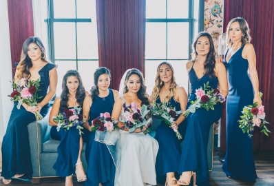 Bridal Party on Point (Shot at Broadview Hotel)