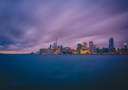 Toronto Skyline Long Exposure at Sundown