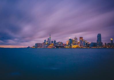 Toronto Skyline Long Exposure at Sundown