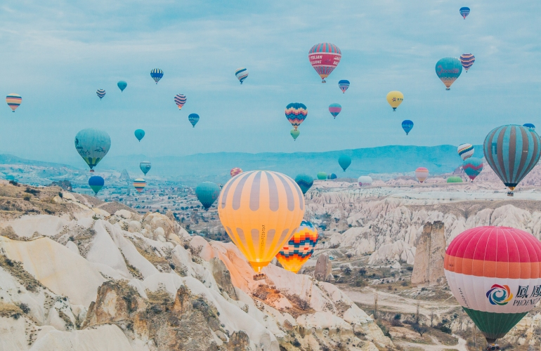 Hot Air Balloons of Cappadocia, Turkey.