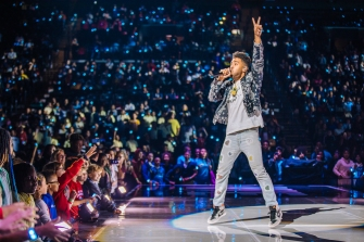 KYLE performing at We Day UN, Brooklyn.