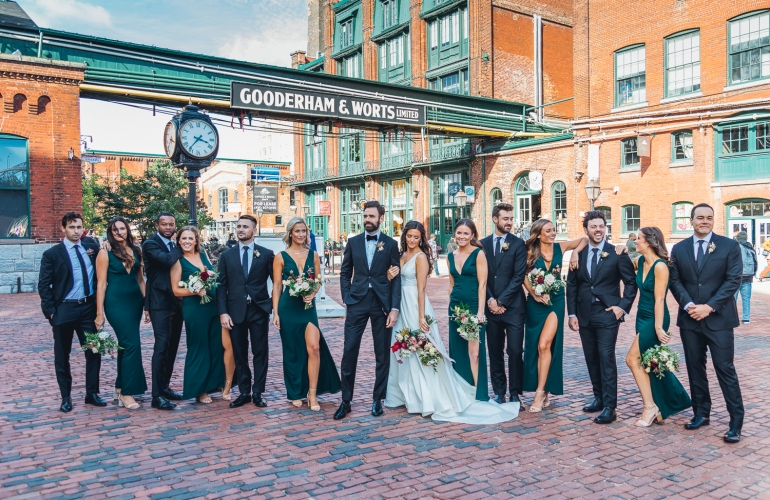 Toronto Wedding Photography in Distillery District, Airship 37