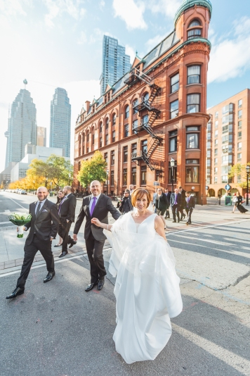 Wedding Photo at Gooderham Building